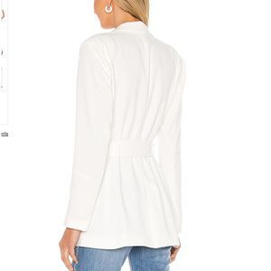NBD Jackets & Coats - NBD Niko Blazer in White Long Belted Blazer